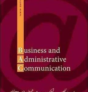 Business and Administrative Communication 10th Edition – PDF ebook