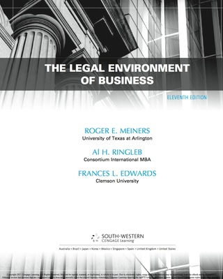 The Legal Environment of Business 11th Edition – PDF ebook
