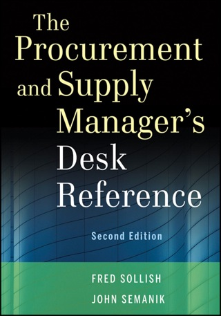 The Procurement and Supply Manager's Desk Reference + Website 2nd Edition – PDF ebook