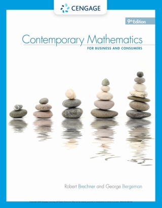 Contemporary Mathematics for Business & Consumers 9th Edition – PDF ebook