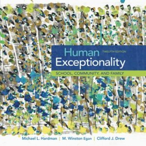 Human Exceptionality: School, Community, and Family 12th Edition – PDF ebook