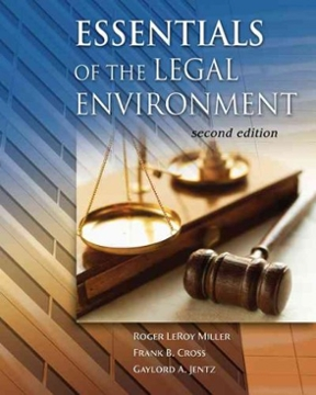 Cengage Advantage Books: Essentials of the Legal Environment 2nd Edition – PDF ebook