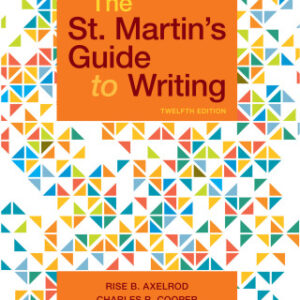 The St. Martin's Guide to Writing, 12th Edition – PDF ebook