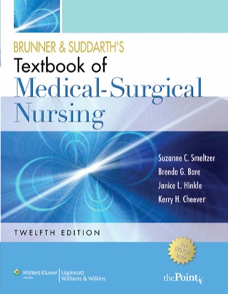 (PDF ebook) Brunner and Suddarth's Textbook of Medical Surgical Nursing, 12th Edition