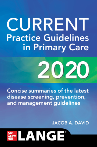 (PDF ebook) CURRENT Practice Guidelines in Primary Care 2020, 18th Edition