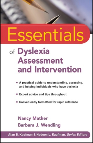 (PDF ebook) Essentials of Dyslexia Assessment and Intervention, 1st Edition