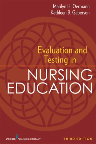 (PDF ebook) Evaluation and Testing in Nursing Education, 3rd Edition