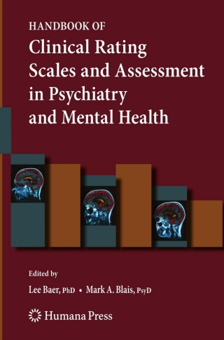 (PDF ebook) Handbook of Clinical Rating Scales and Assessment in Psychiatry and Mental Health, 1st Edition