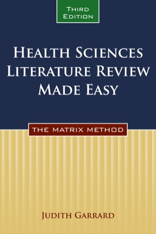 (PDF ebook) Health Sciences Literature Review Made Easy, 3rd Edition