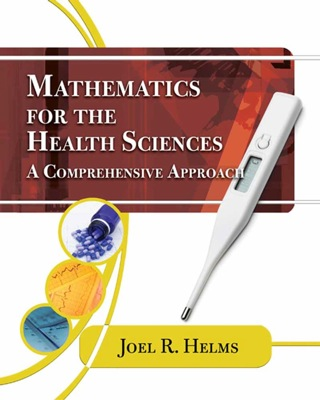 (PDF ebook) Mathematics for Health Sciences: A Comprehensive Approach, 1st Edition