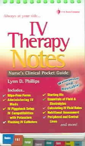(PDF ebook) IV Therapy Notes : Nurse's Clinical Pocket Guide, 1st Edition