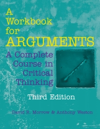 (PDF ebook) A Workbook for Arguments: A Complete Course in Critical Thinking, 3rd Edition