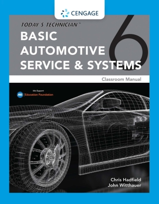 Today's Technician: Basic Automotive Service and Systems, Classroom Manual and Shop Manual, 6th Edition – PDF ebook*