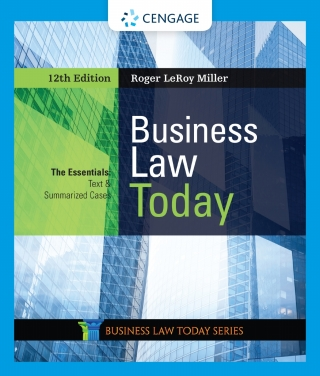 Business Law Today: The Essentials, 12th Edition – PDF ebook*