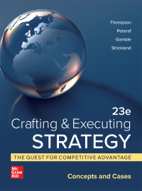 Crafting & Executing Strategy: The Quest for Competitive Advantage: Concepts and Cases 23rd Edition – PDF ebook*