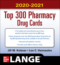 McGraw-Hill's 2020/2021 Top 300 Pharmacy Drug Cards 5th Edition – PDF ebook*
