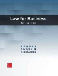 Law for Business 13th Edition by A. James Barnes – PDF ebook*