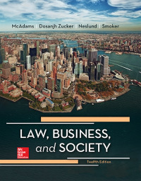 Law, Business and Society 12th Edition by Tony McAdams – PDF ebook*