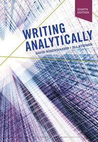 Writing Analytically with APA 7e Updates, 8th Edition – PDF ebook*