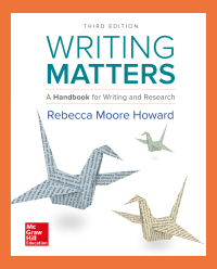 Writing Matters: A Handbook for Writing and Research (Comprehensive Edition with Exercises) 3rd Edition – PDF ebook*