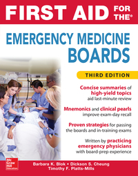 First Aid for the Emergency Medicine Boards 3rd Edition – PDF ebook*