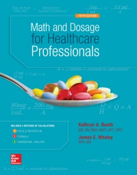 MATH AND DOSAGE CALCULATIONS FOR HEALTHCARE PROFESSIONALS 5th Edition – PDF ebook*