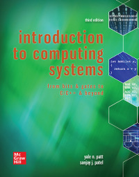 Introduction to Computing Systems: From Bits & Gates to C & Beyond 3rd Edition – PDF ebook