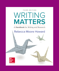 Writing Matters: A Handbook for Writing and Research 3e TABBED 3rd Edition – PDF ebook