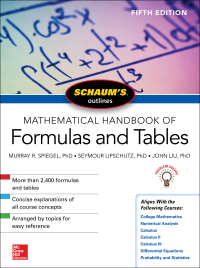 Schaum's Outline of Mathematical Handbook of Formulas and Tables 5th Edition – PDF ebook