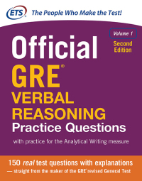 Official GRE Verbal Reasoning Practice Questions 2nd Edition – PDF ebook