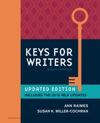 Keys for Writers with APA 7e Updates, Spiral bound Version, 8th Edition – PDF ebook*