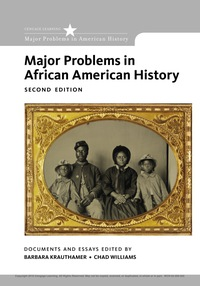 Major Problems in African American History, Loose-Leaf Version, 2nd Edition – PDF ebook*