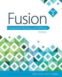 Fusion: Integrated Reading and Writing, Book 2, 3rd Edition – PDF ebook*