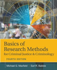 Basics of Research Methods for Criminal Justice and Criminology, 4th Edition – PDF ebook*