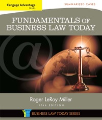 Cengage Advantage Books: Fundamentals of Business Law Today: Summarized Cases, 10th Edition – PDF ebook*