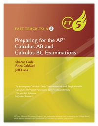 Fast Track to a 5 AP Test Preparation Workbook for Stewart's Calculus: Early Transcendentals, 8th, 8th Edition – PDF ebook*