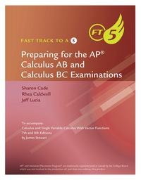 Fast Track to a 5 for Stewart's Calculus, 8th, 8th Edition – PDF ebook*