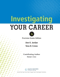 Investigating Your Career, Updated Precision Exams Edition, 3rd, 3rd Edition – PDF ebook*